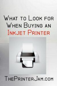 Buying an Inkjet Printer