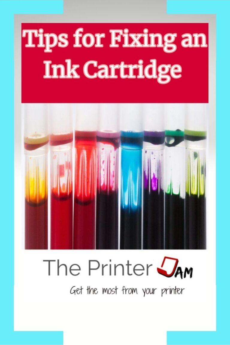 Tips for Fixing an Inkjet Cartridge