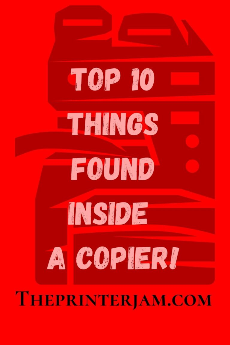 Top 10 Things Found in a Copier