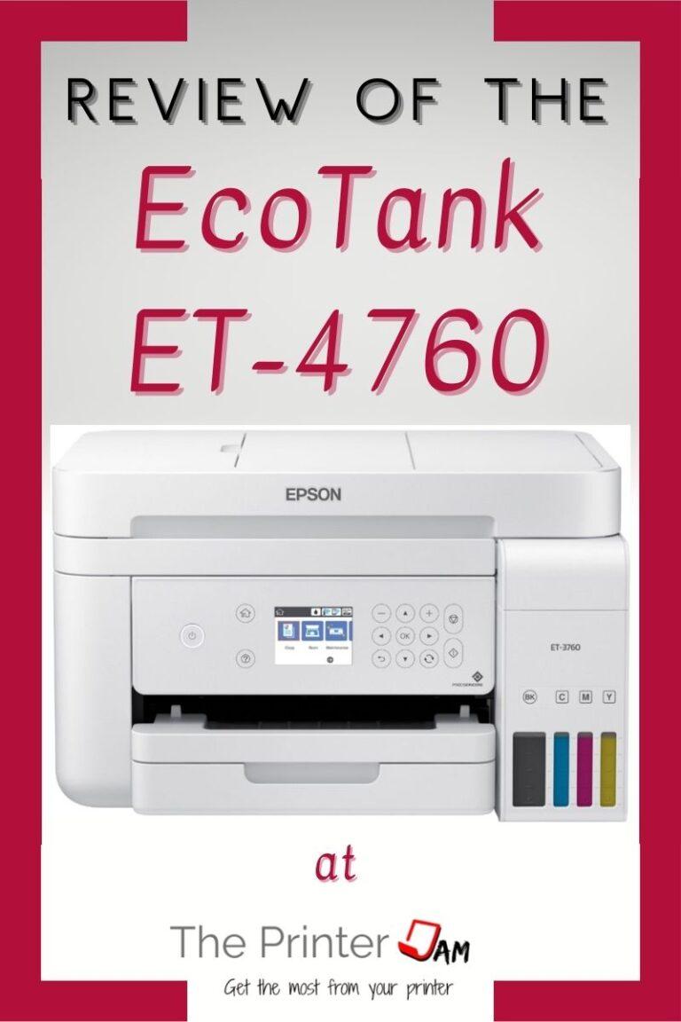 Epson EcoTank ET-4760 Review
