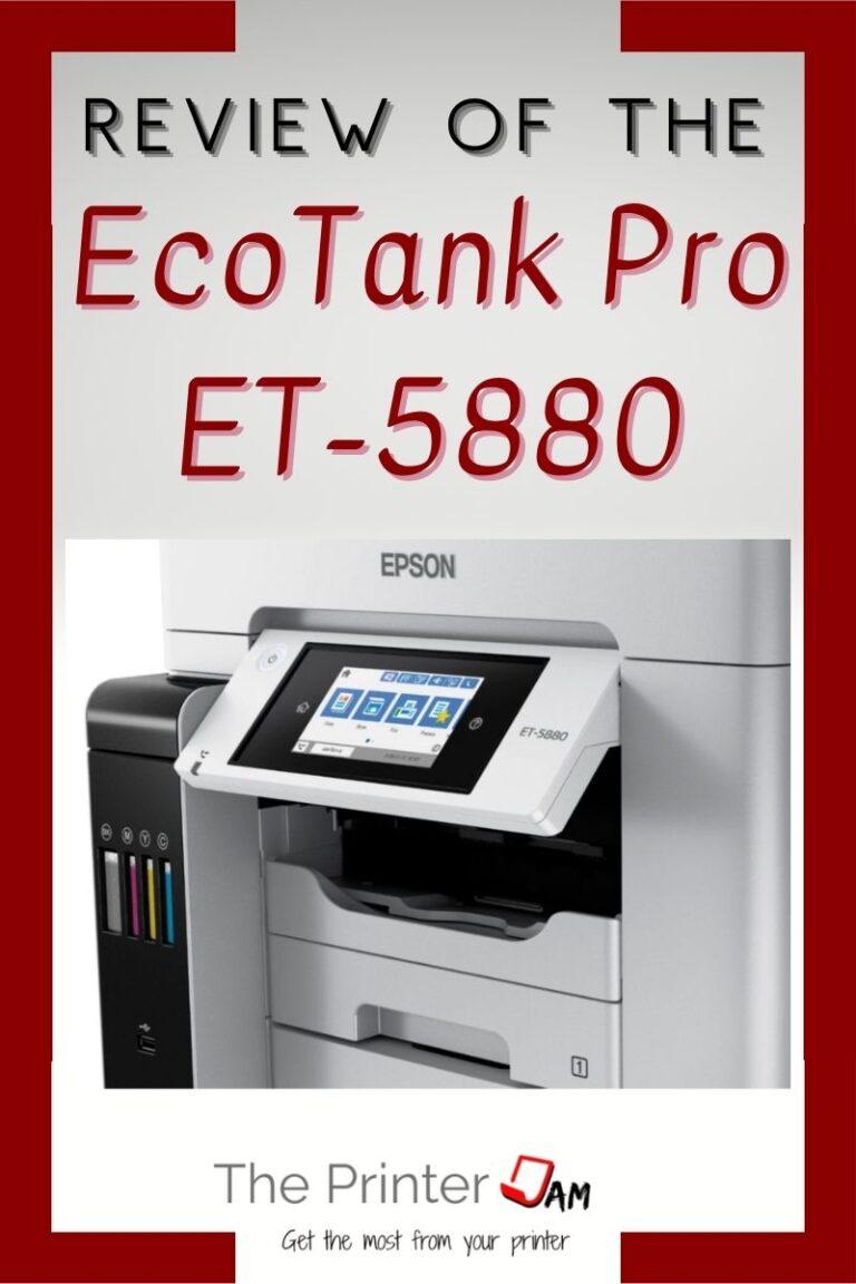 Epson EcoTank Pro ET-5880 Review