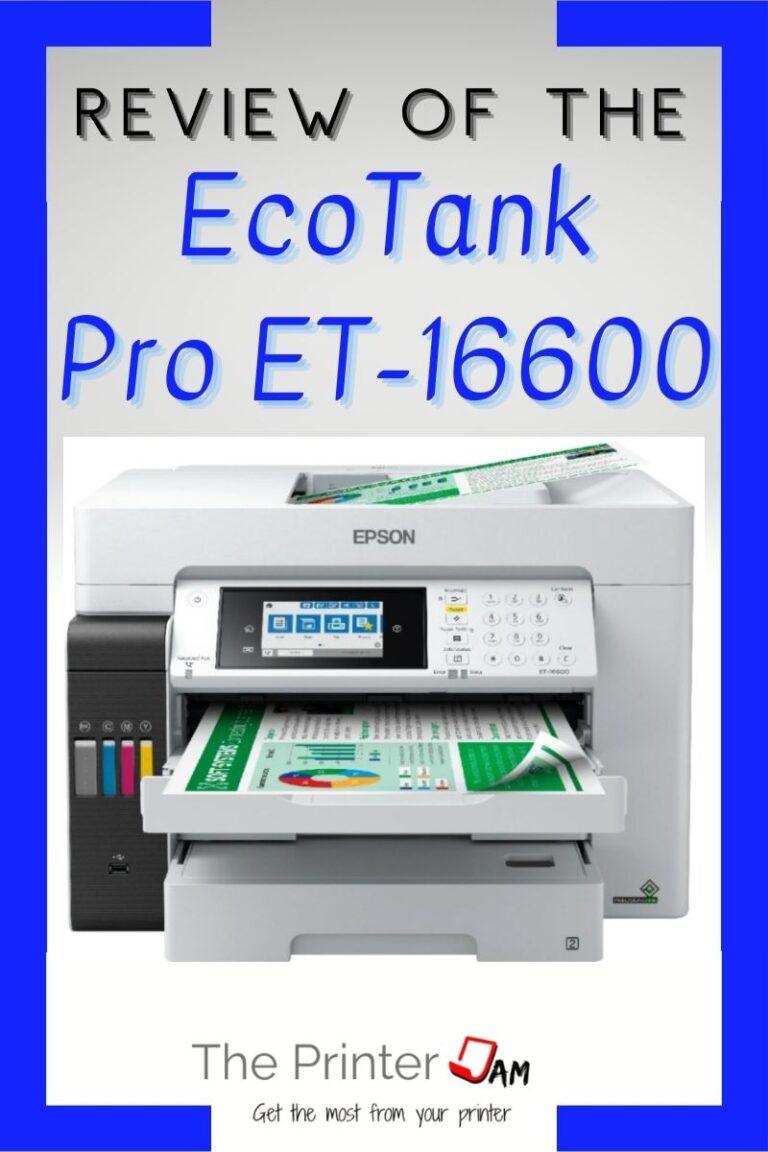 Epson EcoTank Pro ET-16600 Review