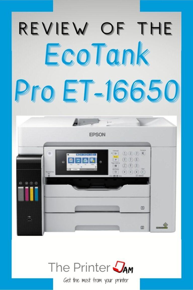 Epson EcoTank Pro ET-16650 Review
