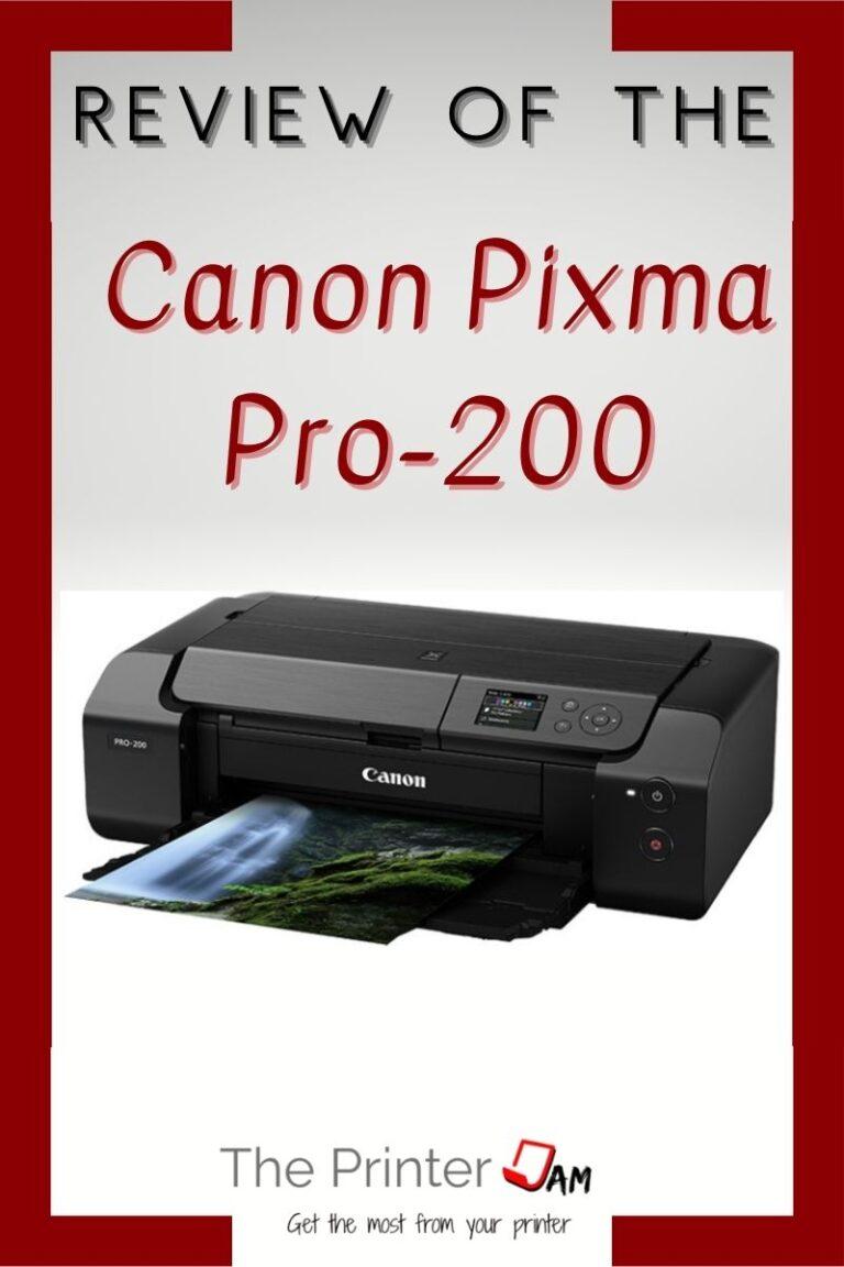 Canon PIXMA Pro-200 Review