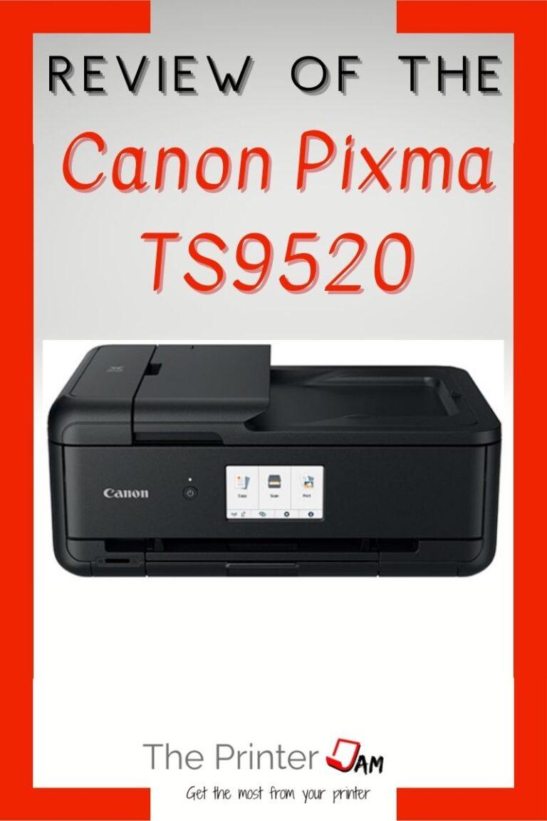 Canon Pixma TS9520 Review