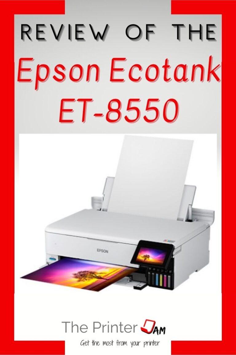 Epson Ecotank ET-8550 Review